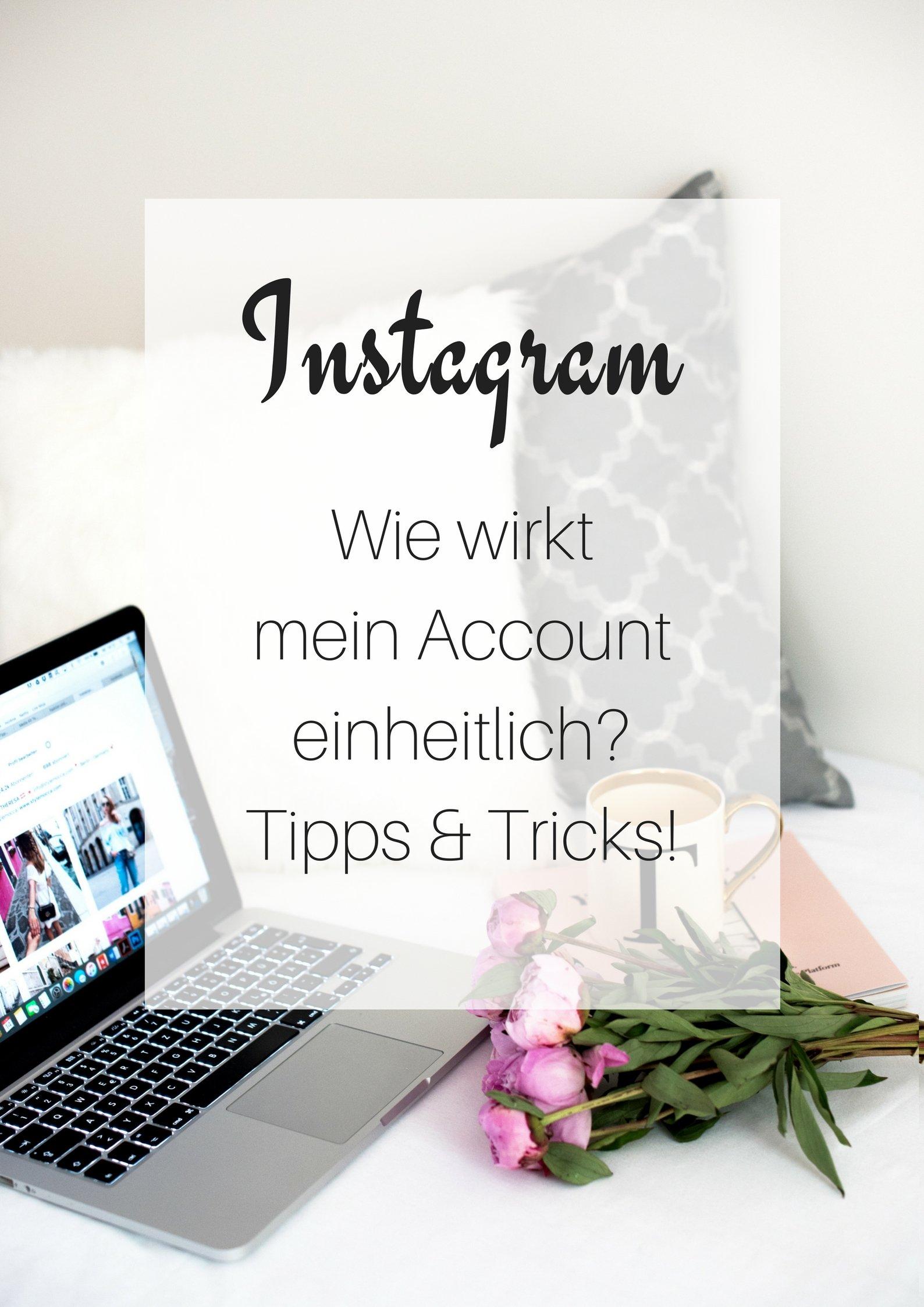 Instagram: Wie wirkt mein Account einheitlich? Tipps & Tricks