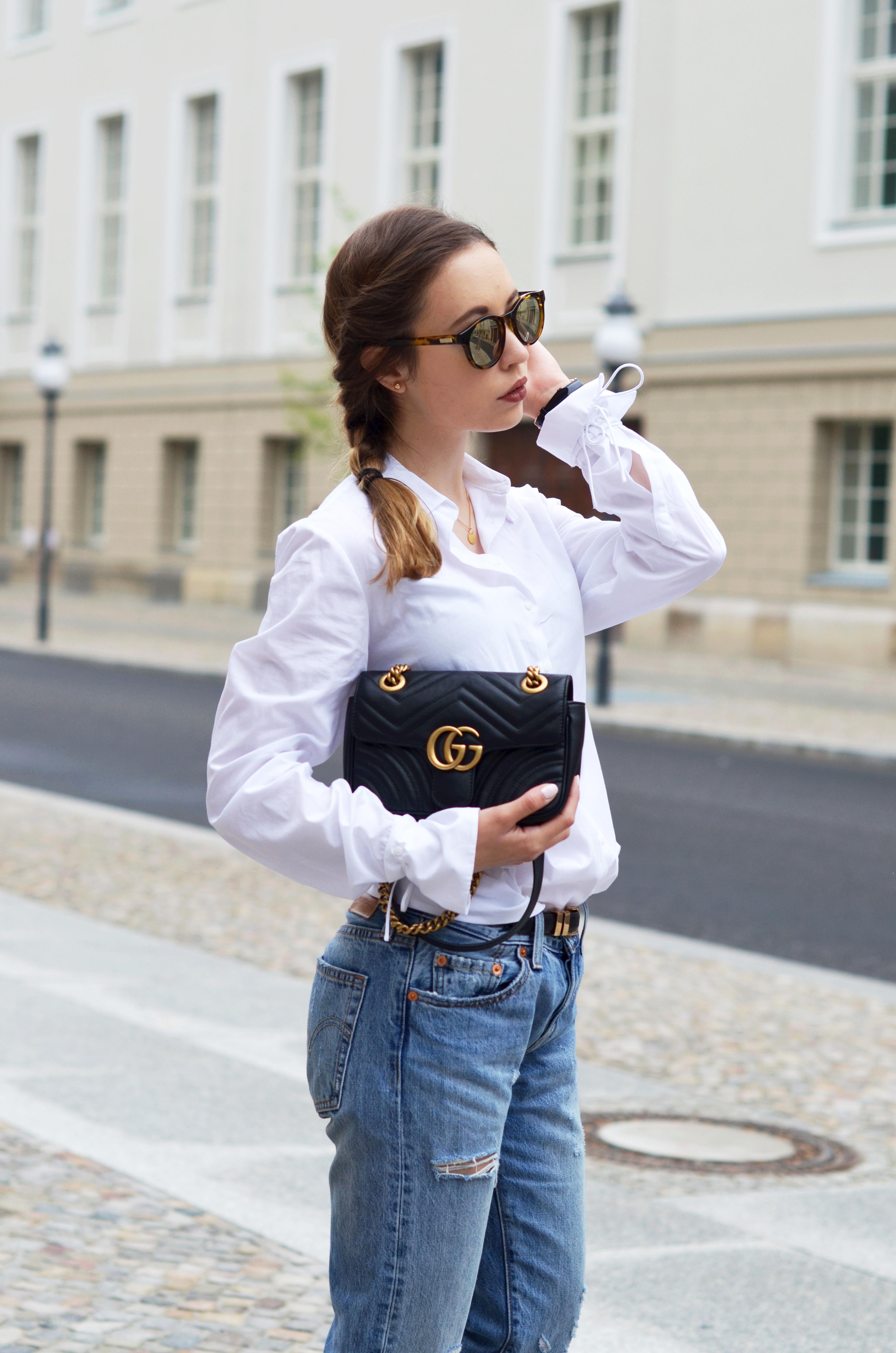 Fabelhaft Basics kombinieren: Die Klassische weiße Bluse mit einer Boyfriend #DT_57