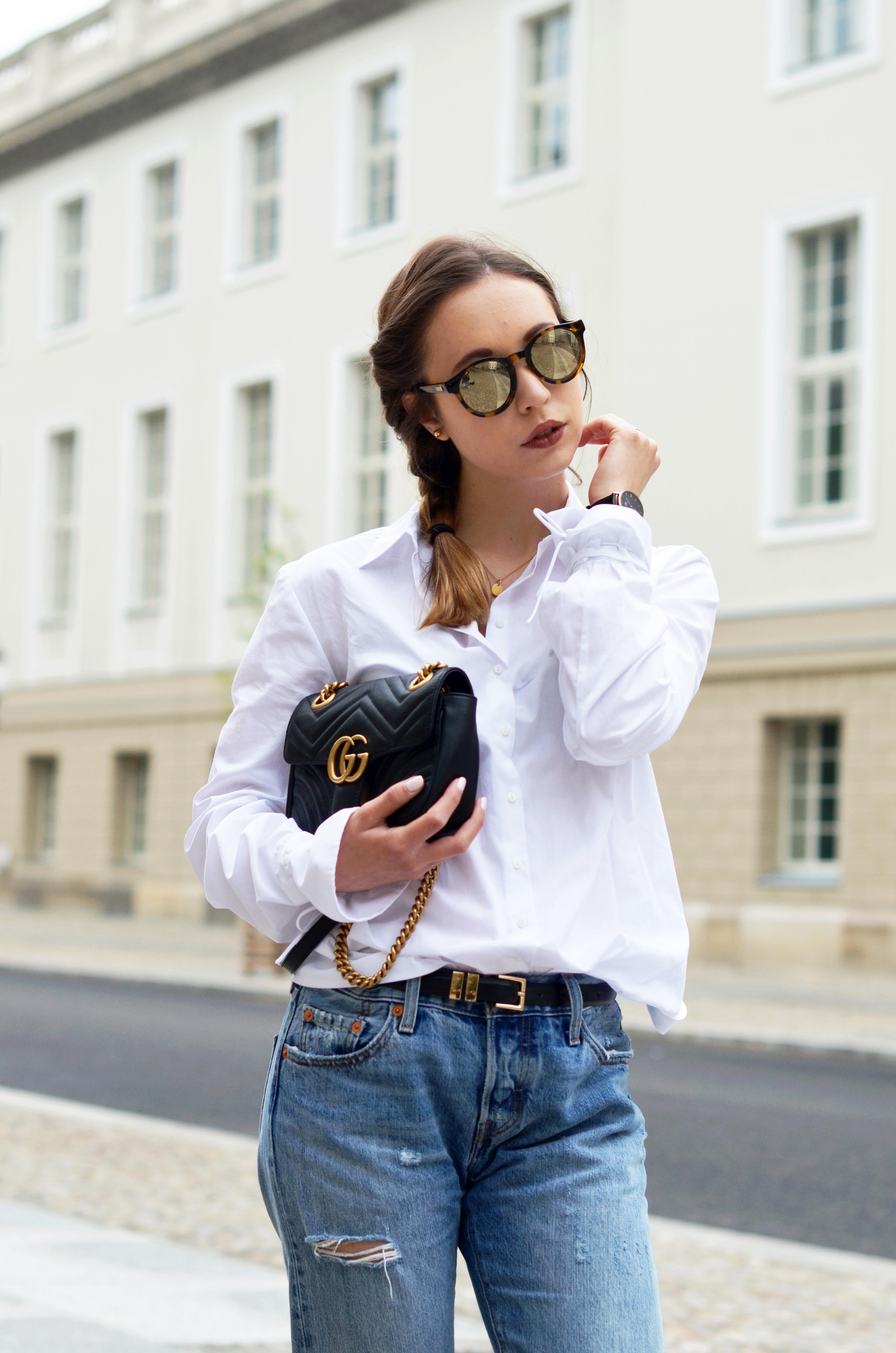 Beliebt Bevorzugt Basics kombinieren: Die Klassische weiße Bluse mit einer Boyfriend &ZX_85