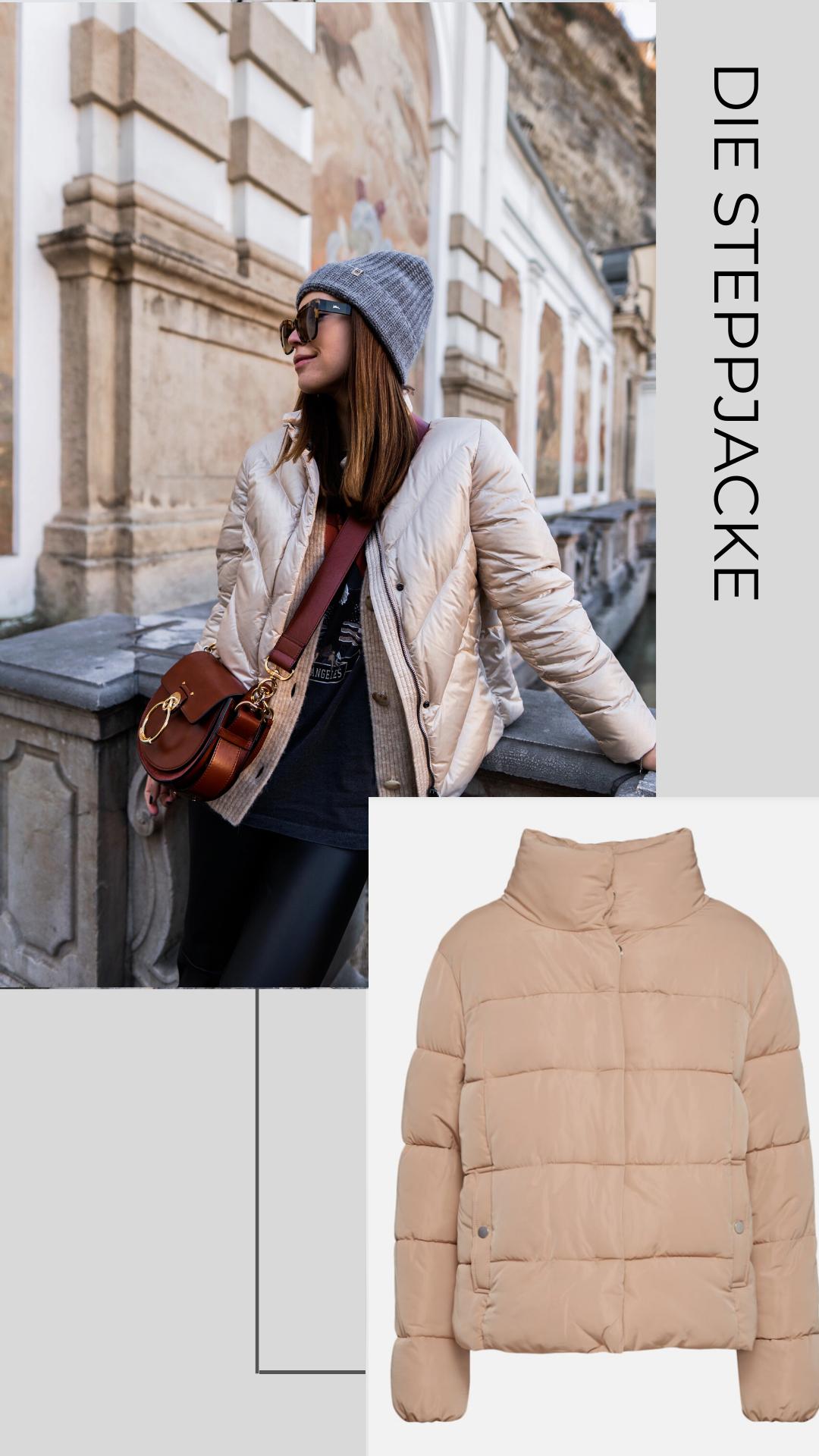 Mantel und Jacken Trends Frühling 2020, die Steppjacke